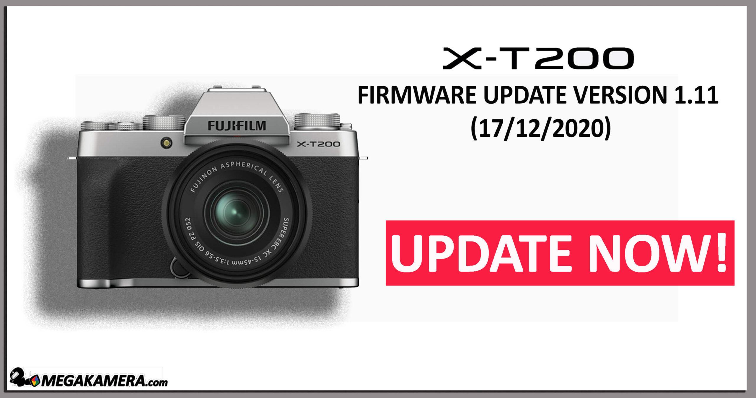 X-T200 Firmware update V1.11 17/12/2020