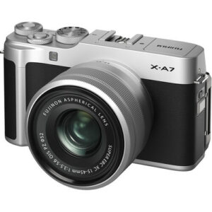 Fujifilm X-A7 Mirrorless Digital Camera Kit 15-45mm Lens Silver