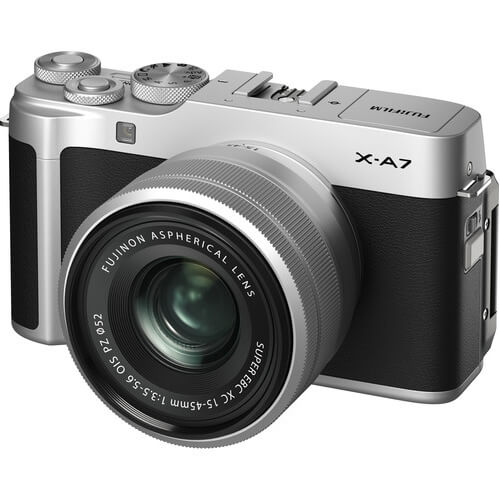 Fujifilm X-A7 Mirrorless Digital Camera Kit 15-45mm Lens Silver