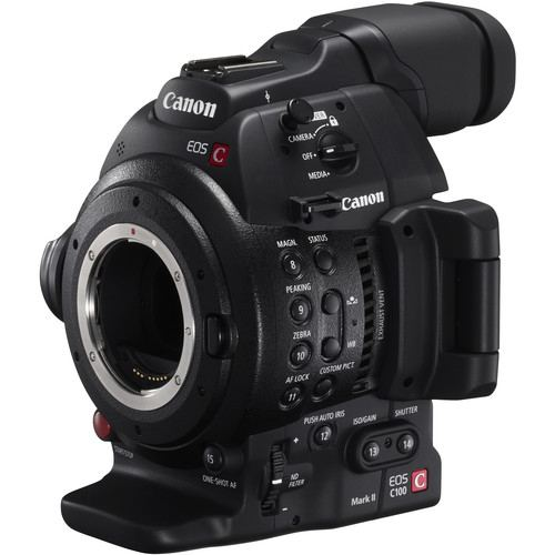 Canon EOS C100 Mark II Cinema EOS Camera with Dual Pixel CMOS AF Body Only 5