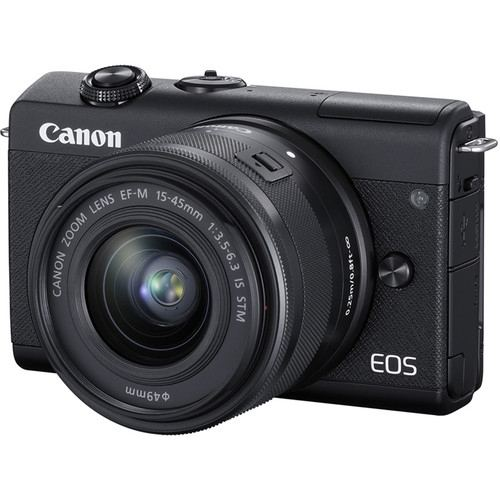 Canon EOS M200 Mirrorless Digital Camera with 15 45mm Black 1
