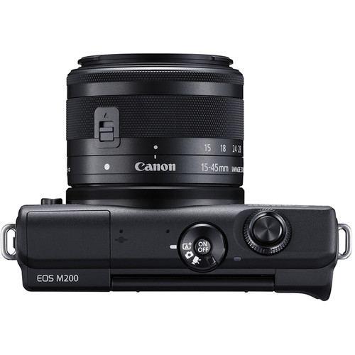 Canon EOS M200 Mirrorless Digital Camera with 15 45mm Black 5