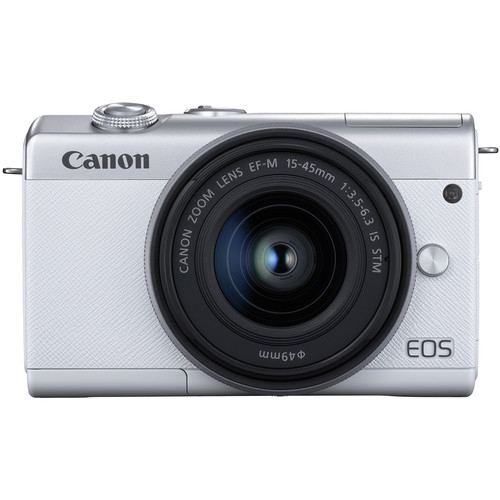 Canon EOS M200 Mirrorless Digital Camera with 15 45mm White 3