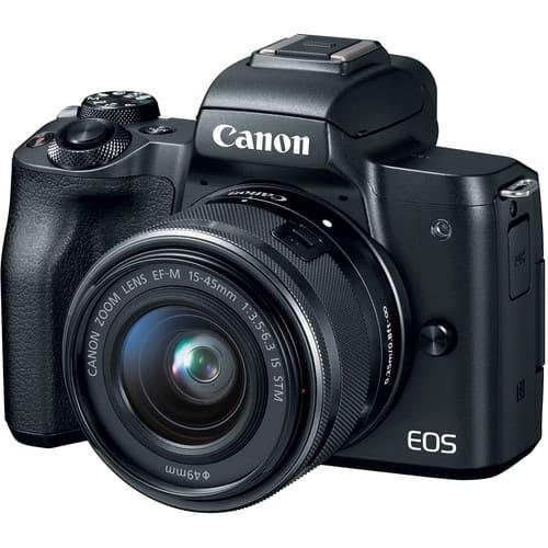 Canon EOS M50 Mirrorless Digital Camera with 15 45mm Black 1