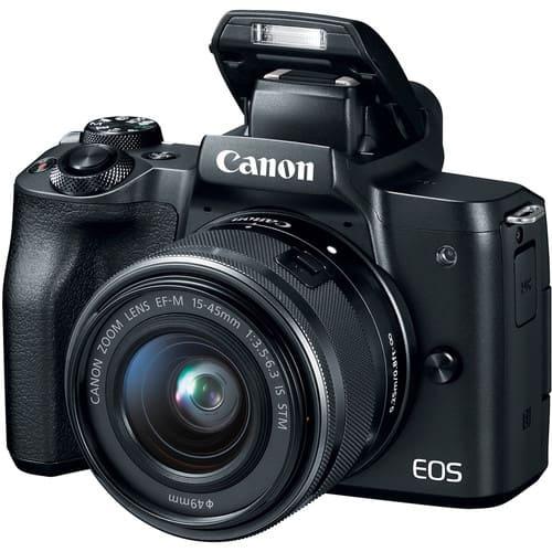 Canon EOS M50 Mirrorless Digital Camera with 15 45mm Black 2