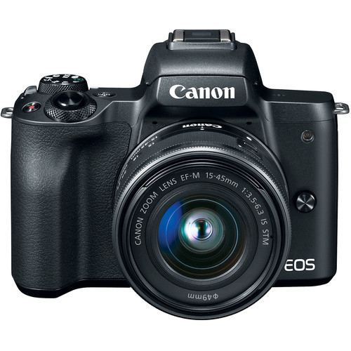 Canon EOS M50 Mirrorless Digital Camera with 15 45mm Black 3