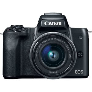 Canon EOS M50 Mirrorless Digital Camera with 15 45mm Black 4