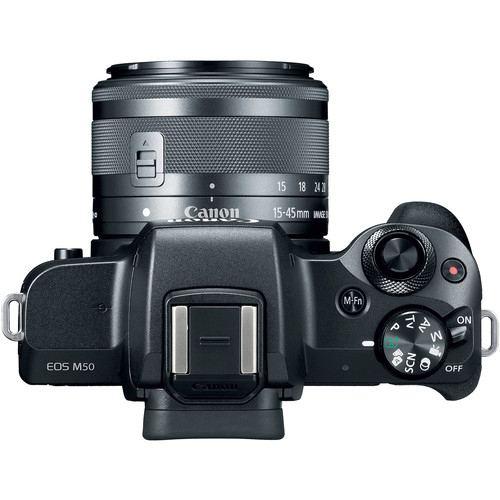 Canon EOS M50 Mirrorless Digital Camera with 15 45mm Black 6