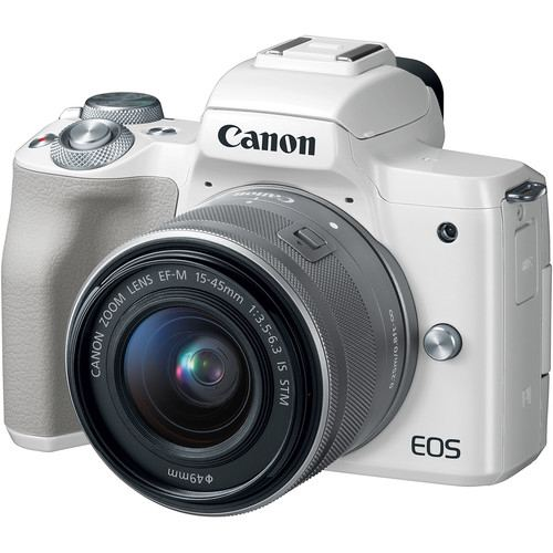Canon EOS M50 Mirrorless Digital Camera with 15 45mm White 1