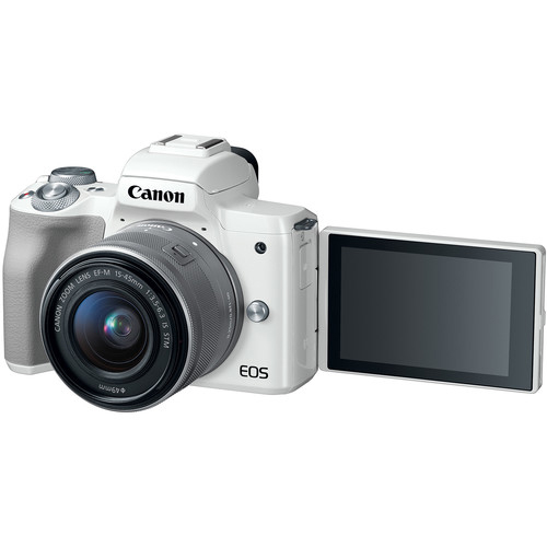 Canon EOS M50 Mirrorless Digital Camera with 15 45mm White 2