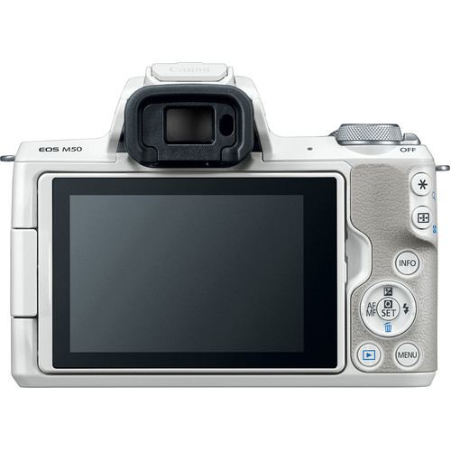 Canon EOS M50 Mirrorless Digital Camera with 15 45mm White 4