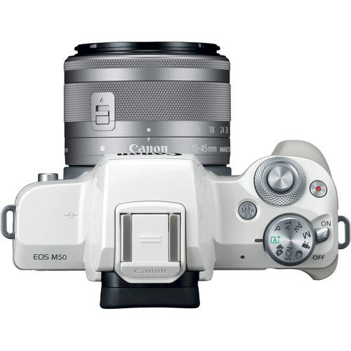 Canon EOS M50 Mirrorless Digital Camera with 15 45mm White 5