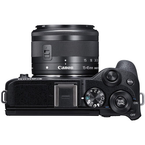 Canon EOS M6 Mark II Mirrorless Digital Camera Kit 1545 Black 5
