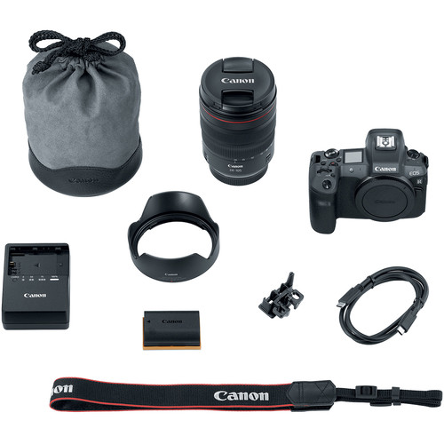 Canon EOS R Mirrorless Digital Camera with 24 105mm 55