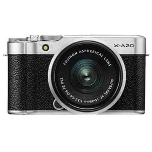 FUJIFILM X A20 Mirrorless Digital Camera Kit 15 45MM Silver1
