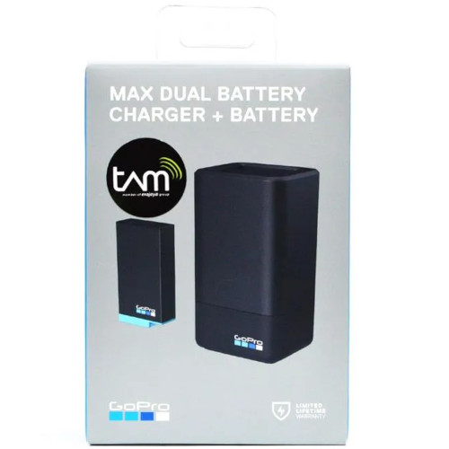 GoPro Dual Battery Charger with Rechargeable Battery for MAX 1