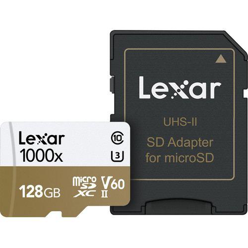 Lexar 128GB Professional 1000x UHS II microSDXC Memory Card with SD Adapter 1