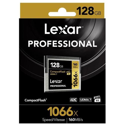 Lexar 128GB Professional 1066x CompactFlash Memory Card UDMA 7 2