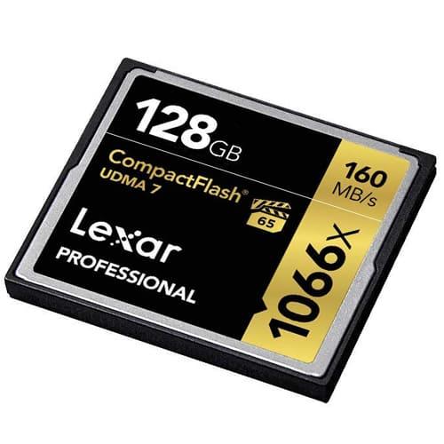 Lexar 128GB Professional 1066x CompactFlash Memory Card UDMA 7 3