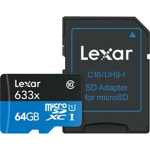 Lexar 64GB High Performance 633x UHS I microSDXC Memory Card 4