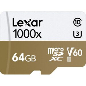 Lexar 64GB Professional 1000x UHS II microSDXC Memory Card with SD Adapter 1