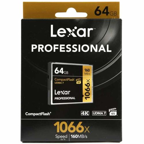 Lexar 64GB Professional 1066x CompactFlash Memory Card UDMA 7 3