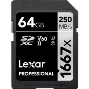 Lexar 64GB Professional 1667x UHS II SDXC Memory Card 3