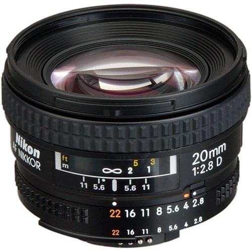 Nikon AF NIKKOR 20mm f2.8D Lens 3