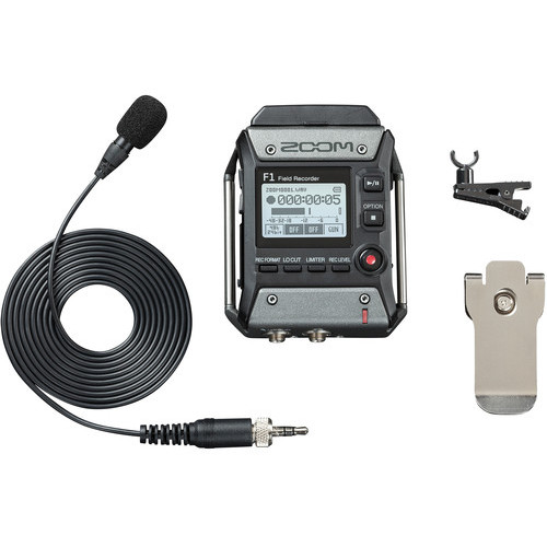 Zoom F1 LP Portable Field Recorder With Lavalier Microphone 1