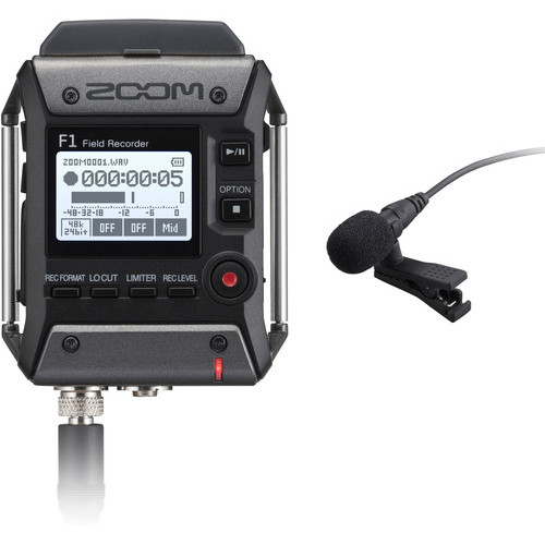 Zoom F1 LP Portable Field Recorder With Lavalier Microphone 2