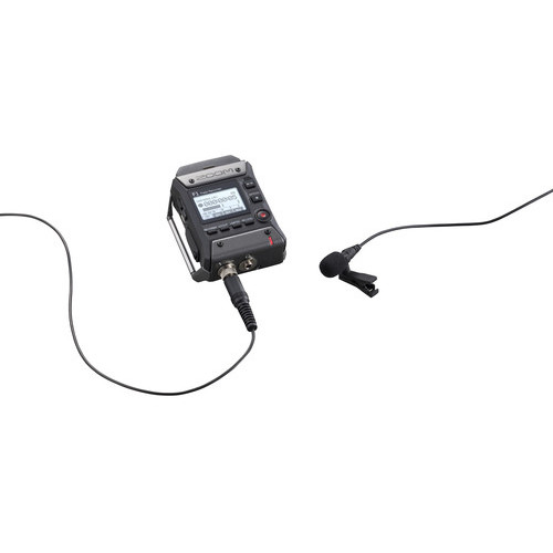 Zoom F1 LP Portable Field Recorder With Lavalier Microphone 4