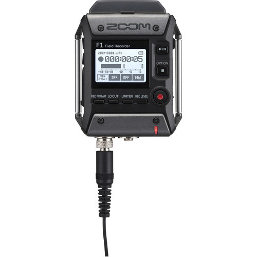 Zoom F1 LP Portable Field Recorder With Lavalier Microphone 6