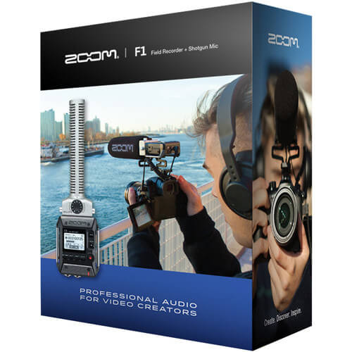 Zoom F1 sp Portable Field Recorder With Lavalier Microphone 3