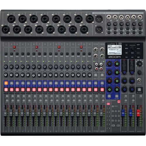 Zoom LiveTrak L 20 Digital Mixer Multitrack Recorder 3