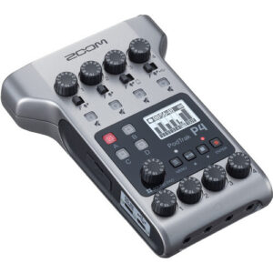 Zoom PodTrak P4 Portable Multitrack Podcast Recorder 1
