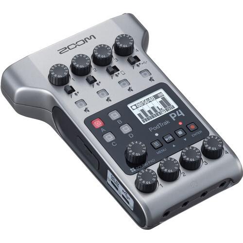 Zoom PodTrak P4 Portable Multitrack Podcast Recorder 1
