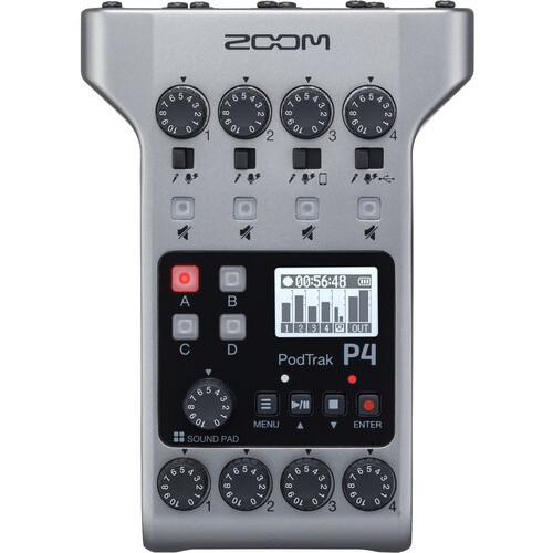 Zoom PodTrak P4 Portable Multitrack Podcast Recorder 2