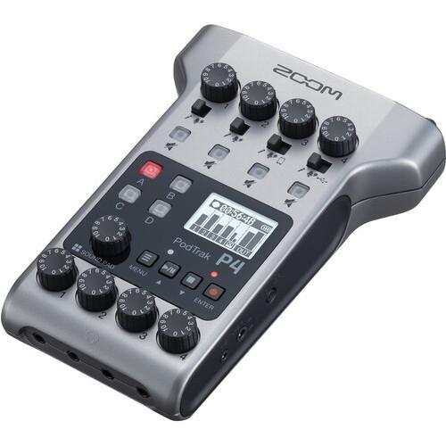 Zoom PodTrak P4 Portable Multitrack Podcast Recorder 3