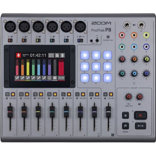 Zoom PodTrak P8 Portable Multitrack Podcast Recorder 2