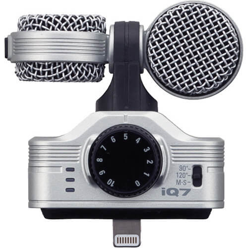 Zoom iQ7 Mid Side Stereo Microphone for iOS Devices 2