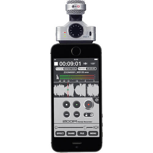 Zoom iQ7 Mid Side Stereo Microphone for iOS Devices 3