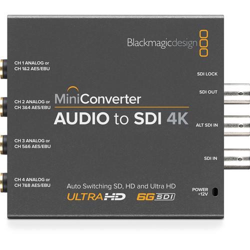 Blackmagic Design Mini Converter Audio to SDI 4K 2