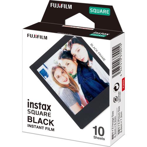 FUJIFILM INSTAX SQUARE Black Instant Film 1