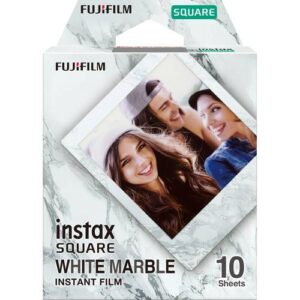 FUJIFILM INSTAX SQUARE White Marble Instant Film 1