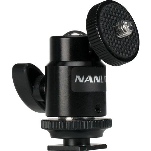Nanlite Mini Ball Head with Hot Shoe Adapter 4