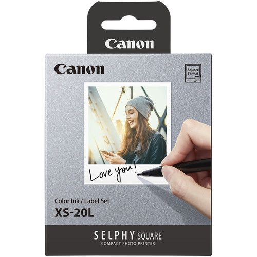 Canon SELPHY Color Ink Label XS 20L Set 20 Sheets 2